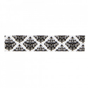 Banda adeziva alba/neagra 10 m Pattern Madam Stoltz