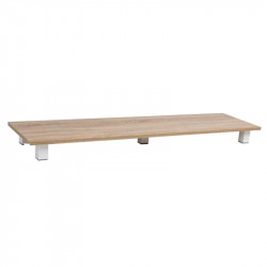 Baza raft maro din lemn de stejar si metal Rubik Signal Meble