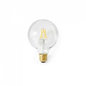 Bec dimabil transparent cu filament LED E27 6W Globe Menu