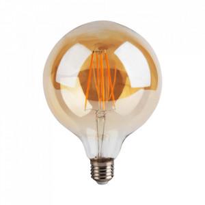 Bec maro chihlimbar cu filament LED E27 4W Globe Bulb Opjet Paris