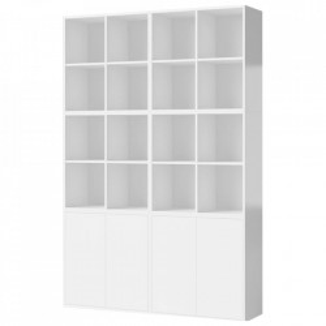 Biblioteca alba din MDF 210 cm Combination Bolia