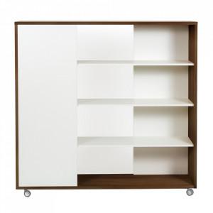 Biblioteca din PAL 148 cm Adala Walnut Woodman