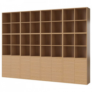 Biblioteca maro din lemn 210 cm Combination Large Bolia