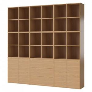 Biblioteca maro din lemn 210 cm Combination Square Bolia