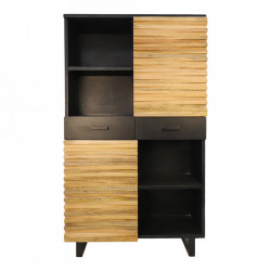 Biblioteca maro/neagra din lemn si metal 190 cm Lillie HSM Collection
