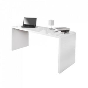 Birou alb din MDF 60x160 cm Trade Invicta Interior