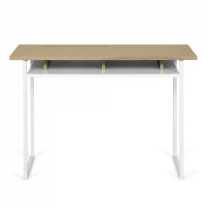 Birou alb/maro din lemn 50x110 cm Bristol TemaHome