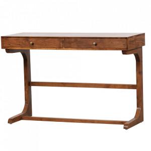 Birou maro din lemn de salcam 43x116 cm Old School Be Pure Home