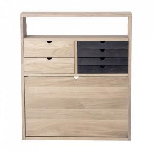 Birou maro din lemn de stejar pentru perete 22x70 cm Fabian Bloomingville