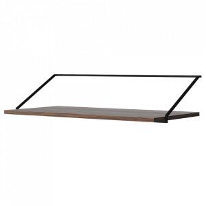 Birou pentru perete maro inchis/negru din MDF si otel 45x92 cm Rail Menu