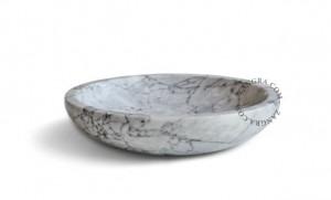 Bol alb/gri din marmura 26 cm Sue Zangra