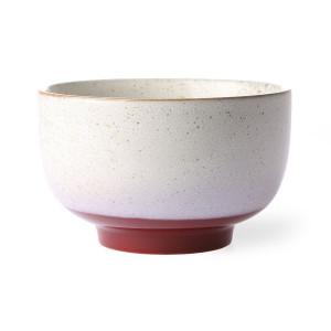 Bol alb/rosu din ceramica 500 ml Frost HK Living