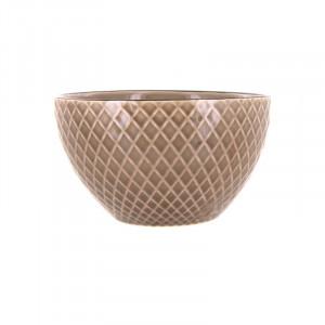 Bol grej din ceramica 13 cm Kristi LifeStyle Home Collection