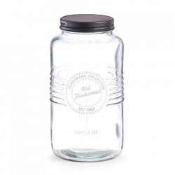 Borcan cu capac transparent din sticla 2000 ml Old Fashioned Zeller