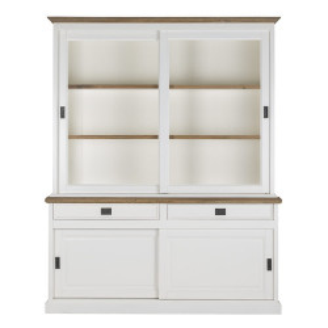 Bufet alb/maro din lemn si MDF 215 cm Cardiff Cabinet Richmond Interiors