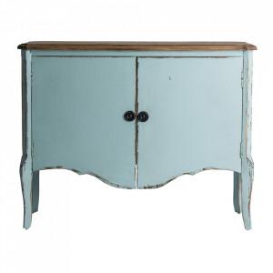 Bufet inferior albastru celest/maro din lemn 120 cm Samari Ali Vical Home