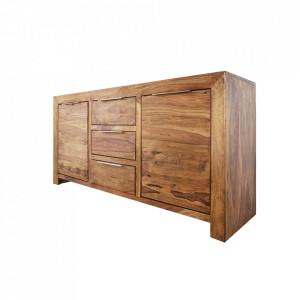 Bufet inferior maro din lemn de palisandru indian 135 cm Lagos Invicta Interior