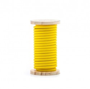 Cablu galben din PVC si bumbac 5 m Philo Yellow Seletti