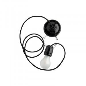 Cablu negru din textil pentru lustra Brett Zangra