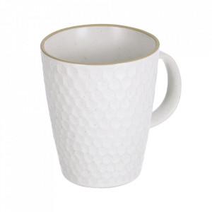 Cana alb din ceramica 430 ml Manami Kave Home