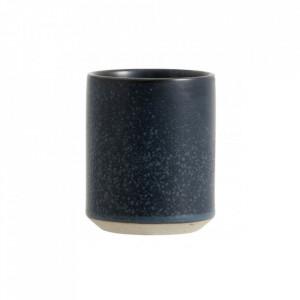 Cana albastra din ceramica 8x10 cm Grainy Coffee Nordal