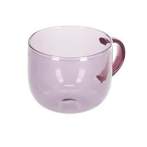 Cana roz din sticla 300 ml Alahi Kave Home