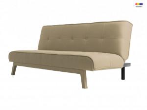 Canapea extensibila bej din poliester si lemn pentru 2 persoane Modes Sand Custom Form
