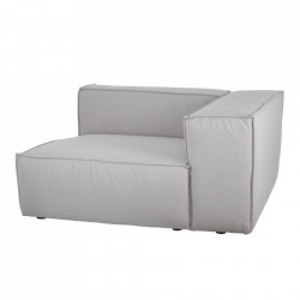 Canapea modulara cu colt gri din poliester si lemn 130 cm Filasum Denzzo