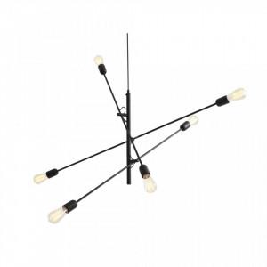 Candelabru metalic negru cu 6 becuri Twigo Custom Form