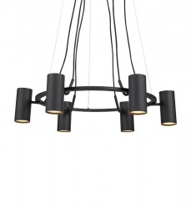 Candelabru negru din metal cu 6 becuri Porto Markslojd