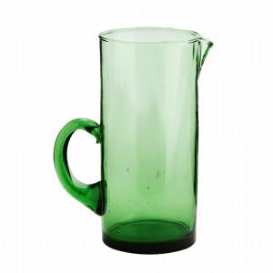 Carafa verde din sticla reciclata 9,5x20 cm Beldi Madam Stoltz