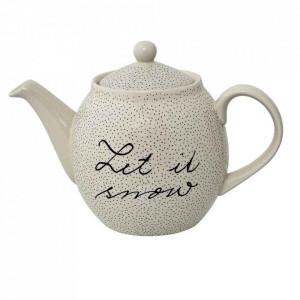 Ceainic alb din ceramica 16x24 cm Snow Bloomingville