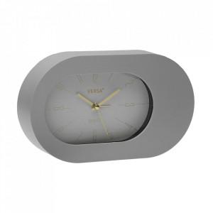 Ceas de masa oval gri din plastic 12x21 cm Madonna Versa Home