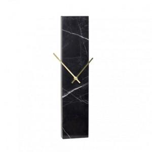 Ceas de perete negru din marmura 25x50 cm Michael Hubsch
