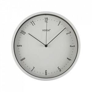 Ceas de perete rotund alb din plastic 25 cm Jazy Versa Home