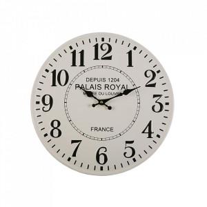 Ceas de perete rotund alb/negru din metal 40 cm Palais Versa Home