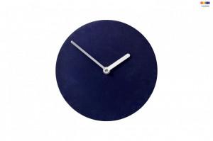 Ceas de perete rotund albastru din MDF 20 cm Soft Watch Blue Bolia