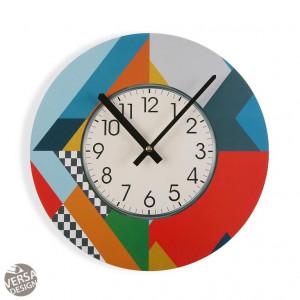 Ceas de perete rotund multicolor din lemn 29 cm Brais Clock Versa Home