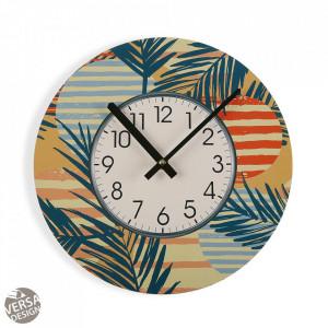 Ceas de perete rotund multicolor din lemn 29 cm Saona Clock Versa Home