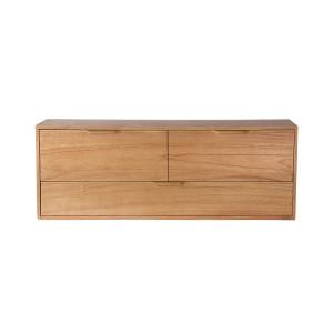 Comoda maro din placaj si lemn de sungkai 100 cm Carla D HK Living