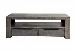 Comoda TV gri din lemn de mango 130 cm Iron Craft Invicta Interior