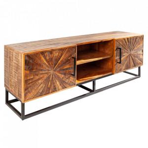 Comoda TV maro/neagra din lemn de mango si metal 145 cm Art Invicta Interior