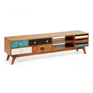 Comoda TV multicolora din lemn de mango si MDF 160 cm Conrad Kave Home