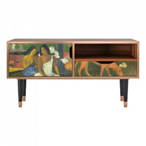 Comoda TV multicolora din MDF si lemn 114,2 cm Arearea By Paul Gauguin Sara Furny