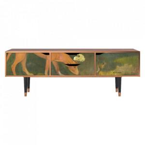Comoda TV multicolora din MDF si lemn 170 cm Arearea By Paul Gauguin Eve Furny