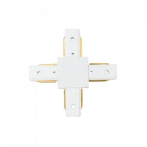 Conector electric alb din aluminiu si plastic Track-System MW Glasberg