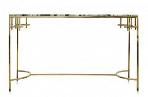 Consola din marmura cu cadru auriu 130x40cm Anna Versmissen