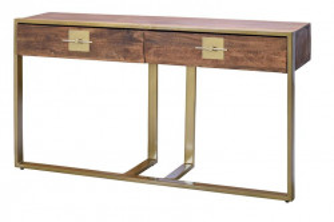 Consola maro din lemn de mango si metal 138 cm Opal Giner y Colomer