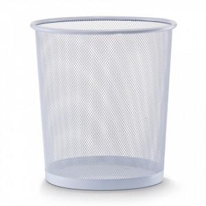 Cos de gunoi alb din metal 26x28 cm pentru birou Mesh Paper Trash Zeller