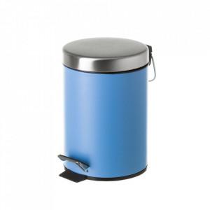 Cos de gunoi albastru/argintiu din metal 3 L Burna Unimasa